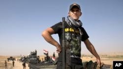 Un membre des forces spéciales irakiennes s'apprête à reprendre Mossoul, Irak, le 14 octobre 2016.