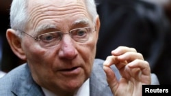 FILE - Germany's Finance Minister Wolfgang Schaeuble