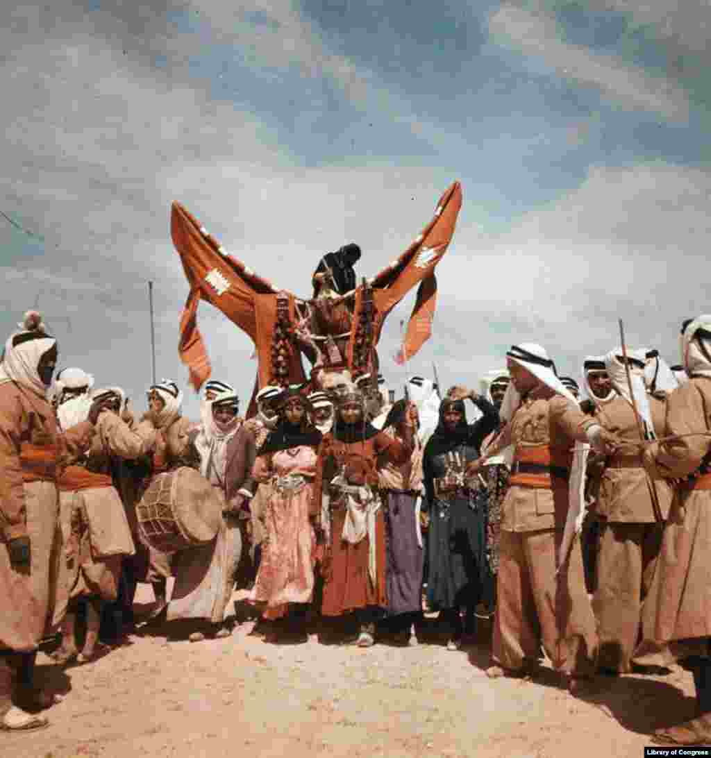 Dom entertainers at Bedouin wedding, Syria, date unknown.