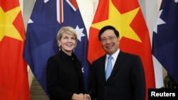 澳越外长2018年5月28日举行两国外长级会议新机制的首轮会谈(路透社)
