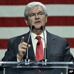 Bviši predsjedatelj Zastupničkog doma Newt Gingrich drži govor u Iowi početkom mjeseca