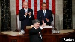 پیترو پوروشنکو امریکی کانگریس سے خطاب کے دوران