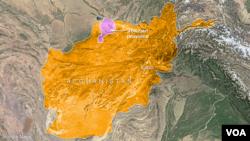 Peta Afghanistan dan letak provinsi Jowzjan.