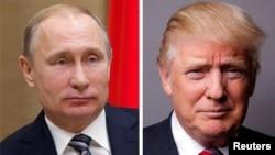 俄羅斯總統普京和美國總統川普。