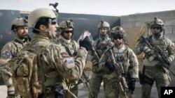 지난 1월 아프가니스탄 카불 외곽에서 훈련 중인 아프간 특수부대. (자료사진)