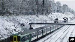 歐洲大雪交通受延誤。