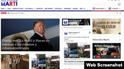 Онлайн сторінка Radio TV Marti (архівне фото).