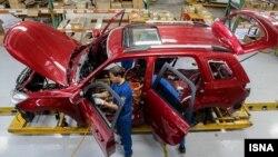 خط تولید خودرو در ایران