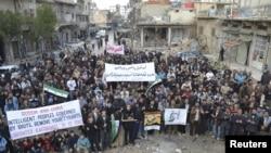 Demonstracije protiv sirijskog predsednika Bašara al-Asada, održane su posle današnje podnevne molitve u sirijskom gradu Idlibu
