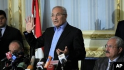 Ahmed Shafiq as Egypt's prime minister, February 13, 2011 (AP).