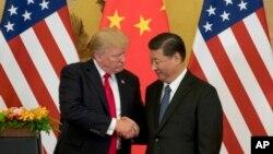 دیدار دونالد ترامپ رئیس جمهوری آمریکا و شی جین پینگ رئیس چمهوری چین در پکن - ۹ نوامبر ۲۰۱۷