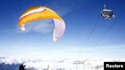 靠近阿爾卑斯山度假地恩格爾伯格的瑞士鐵利斯山滑雪區。(2020年10月13日)