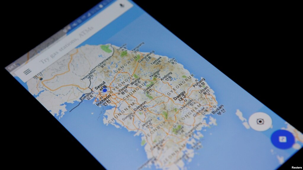 Google disappointed by south korean refusal on mapping data google maps application is displayed on a smartphone in seoul south korea in this gumiabroncs Images