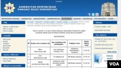 Mərkəzi Seçki Komissiyasının saytı