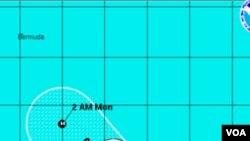 Badai Katia diperkirakan akan menuju ke barat dan bergerak ke kepulauan Leeward di Karibia (31/8).