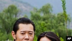 Bhutan's King Jigme Khesar Namgyel Wangchuck and Jetsun Pema