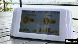 Một sản phẩm theo dõi chất lượng không khí của IQAir bán ở Việt Nam.