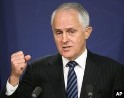 FILE - Australia's Prime Minister Malcolm Turnbull speaks in Sydney.