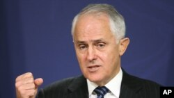 Australia's Prime Minister Malcolm Turnbull warns Sept. 1, 2016, against fomenting distrust of Muslims as he outlined tougher measures against supporters of the Islamic State movement.