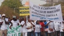 Manifestação de estudantes da Universidade Lusófona da Guiné-Bissau