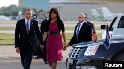 Predsednik Obama i prva dama Amerike Mišel Obama doputovali u Teksas