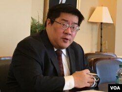 传统基金会中国军事专家成斌(美国之音钟辰芳拍摄)