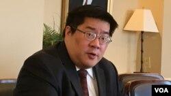 傳統基金會中國軍事專家成彬(圖片來源: 美國之音鍾辰芳拍攝)