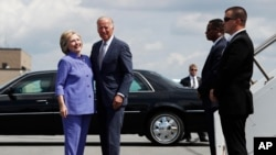 Hillary Clinton accueille Joe Bien en Pennsylvannie, 15 aout 2016