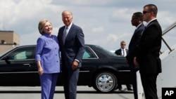 Hillary Clinton accueille Joe Bien en Pennsylvannie, 15 aout 2016