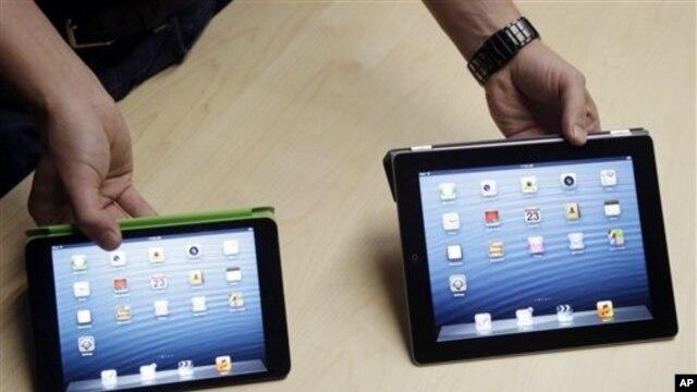Ajped mini (levo) manji je i lakši od ajpeda normalne veličine