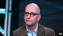 FILE - Executive producer Steven Soderbergh speaks on a panel in Pasadena, California, Jan. 8, 2016.