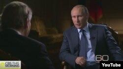 Владимир Путин в программе «60 минут» телекомпании CBS