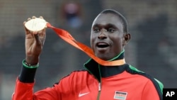 Le Kenyan David Rudisha vainqueur du 800m à Rio.