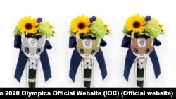 The Olympic victory bouquets are made of flowers grown in the areas that were devastated by the earthquake in 2011