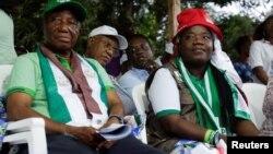 Le vice-président et candidat à la présidentielle, Joseph Nyuma Boakai, lors d'un rassemblement, à Monrovia, Liberia, le 7 octobre 2017.