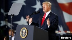 Presiden Amerika Donald Trump berbicara mengenai reformasi pajak di Harrisburg, Pennsylvania (foto: dok).
