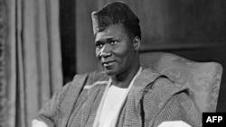 Photo officielle non datée d'Ahmed Sekou Touré, président de la Guinée. Ahmed Sékou Touré (9 janvier 1922-26 mars 1984) fut le premier président de la Guinée (1958-1984).