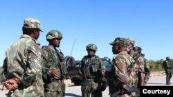 Militares moçambicanos e ruandeses em Cabo Delgado