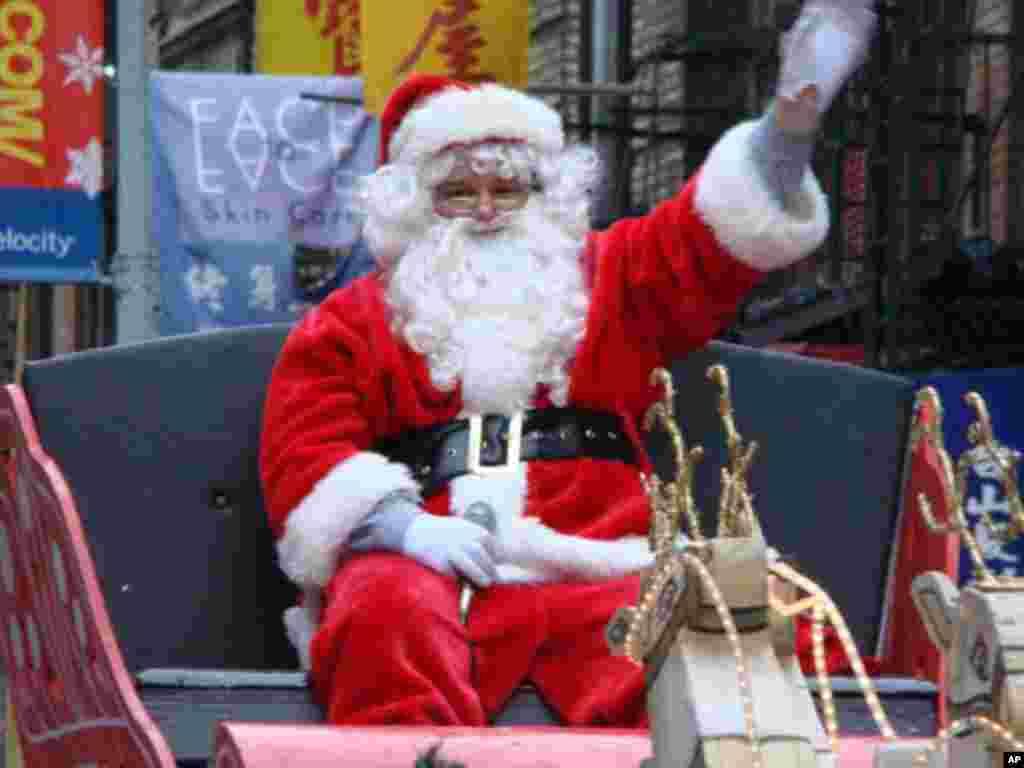 聖誕老人來到紐約唐人街
