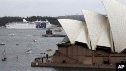 오폐라 하우스가 있는 호주 시드니의 항구. (자료사진)