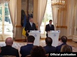 Прес-конференція Петра Порошенка і Еммануеля Макрона