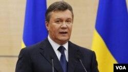 ປະທານາທິບໍດີ ຢູເຄຣນ ທ່ານ Viktor Yanukovych ຜູ້ທີ່ຖືກໄລ່ອອກຈາກຕຳແໜ່ງ