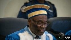 Président ya Vour constitutionnelle Benoït Lwamba Bintu na Kinshasa, 19 janvier 2019. (Photo by Caroline THIRION / AFP)