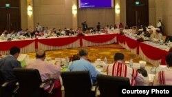 UPDJC ရဲ႕ ဒုတိယေန႔ အစညး္အေ၀း (Hla Maung Shwe)