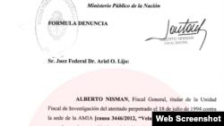 Nisman accusation