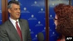 Thaçi: Nuk do të ketë as ndarje dhe as shkëmbim territoresh mes Kosovës dhe Serbisë