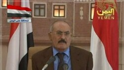 سخنگوی مخالفان: سخنرانی صالح برای غرب بود زیرا هنگام ایراد آن، کشور برق نداشت و تلویزیون هیچکس روشن نبود. ۸ اکتبر ۲۰۱۱