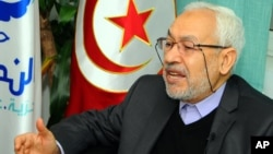 Rachid Ghannouchi, leader of the Tunisian moderate Islamist Ennahda party, Feb. 11, 2013
