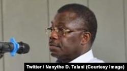 Le général Norbert Dabira lors de son procès pour atteinte à la sécurité intérieure de l'État à Brazzaville, Congo, 19 mai 2018. (Twitter/Nanythe D. Talani)