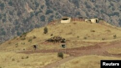이라크 북부 도훅의 터키 군 초소 주변에서 터키 군 탱크가 이동 중이다. (자료사진)